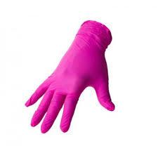 Перчатки нитриловые М Benovy FLEXIS розовые, 50 пар