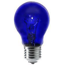 Лампа накаливания вольфрамовые (синие) типов: A55 C 230-60 (Е27)