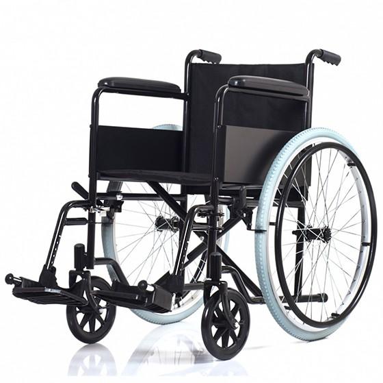 Кресло коляска Ortonica Base 100 (00/18/PU/кр1/сталь/фиксированная/спин 1/рем для гол/насос/черн)