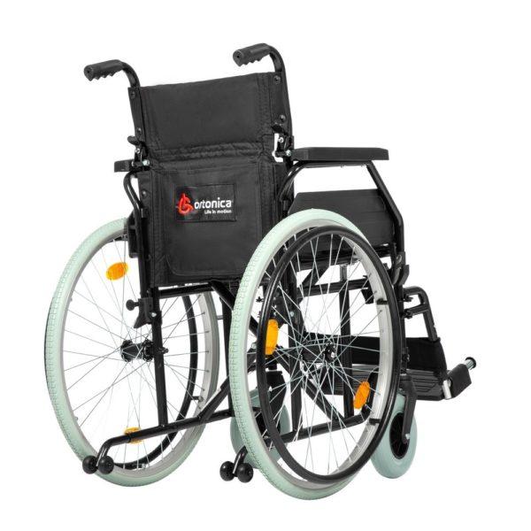 """Кресло коляска Ortonica Base 140 (01/18/UU/кр1/сталь/спин склд/пер.вил.БС/пер колесо 2""""/зад колеса)"""