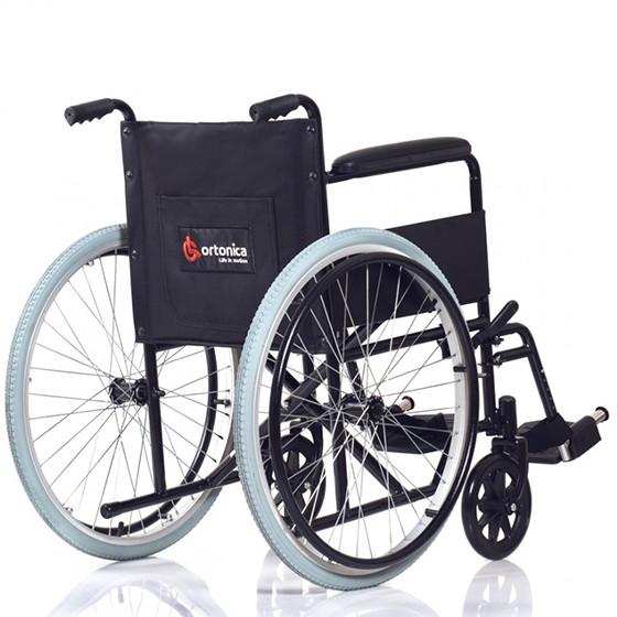 Кресло коляска Ortonica Base 100 (00/16/UU/кр1/сталь/фиксированная/спин 1/рем для гол/черн)