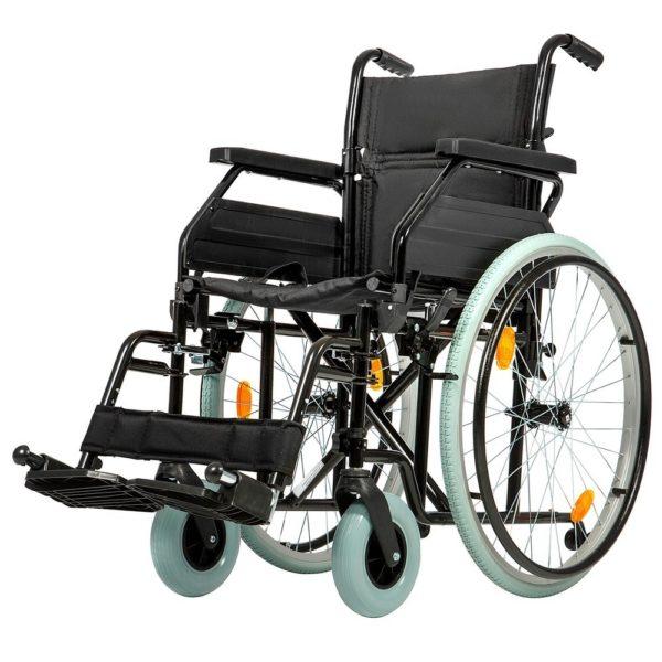 """Кресло коляска Ortonica Base 140 (01/19/UU/кр1/сталь/спин склд/пер.вил.БС/пер колесо 2""""/зад колеса)"""